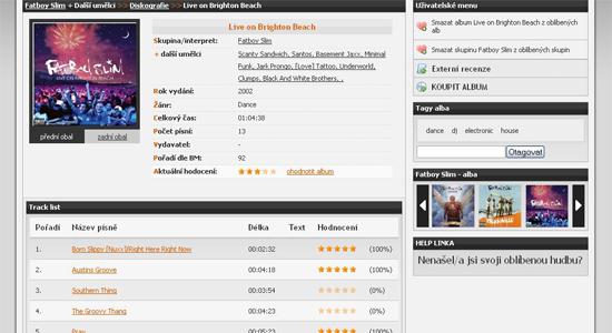 náhled bestmusic.cz - detail alba