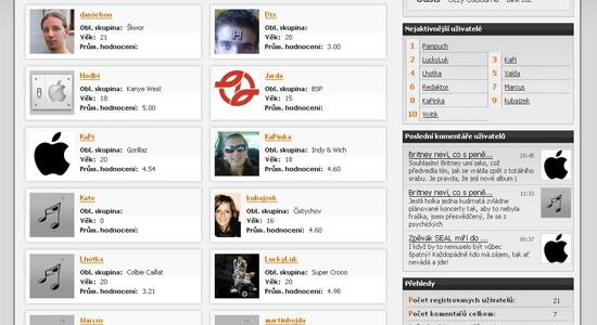 náhled bestmusic.cz - Uživatelé